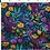 Thumbnail: Bandeau cheveux réversible fleurs multicolor uni violine