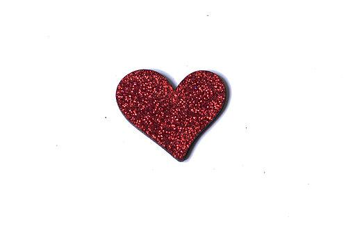 Pins coeur en bois