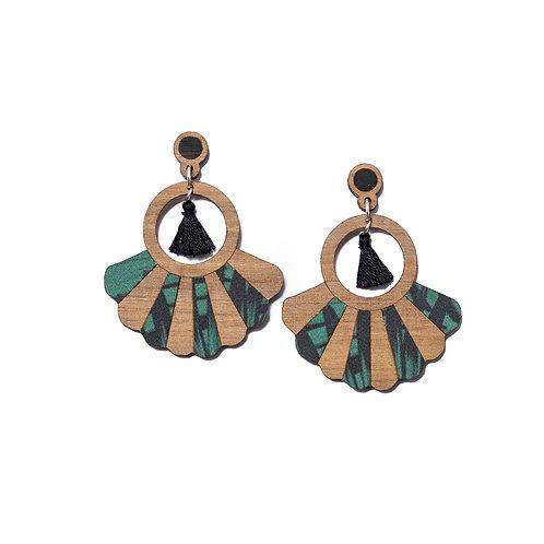 Boucles d'oreilles en bois Frida jungle