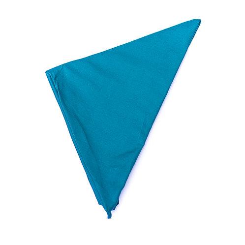Turban uni bleu canard