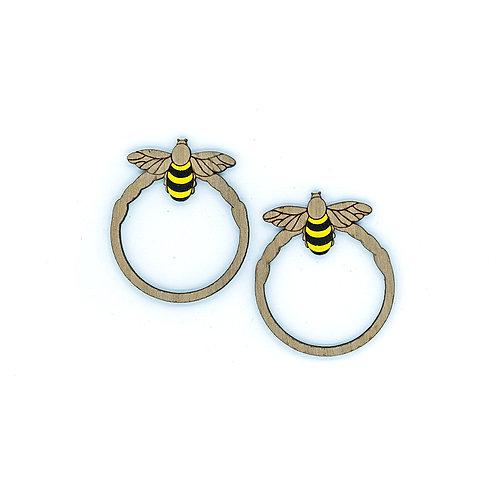 Boucles d'oreilles créole abeille