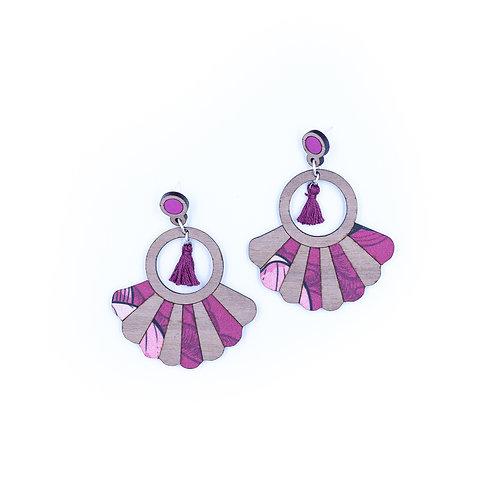 Boucles d'oreilles Frida magnolia