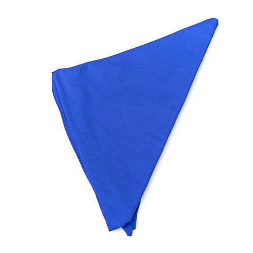 Turban uni bleu électrique