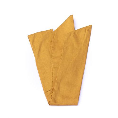 Bandeau uni jaune moutarde