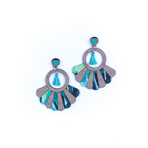 Boucles d'oreilles Frida aquarelle