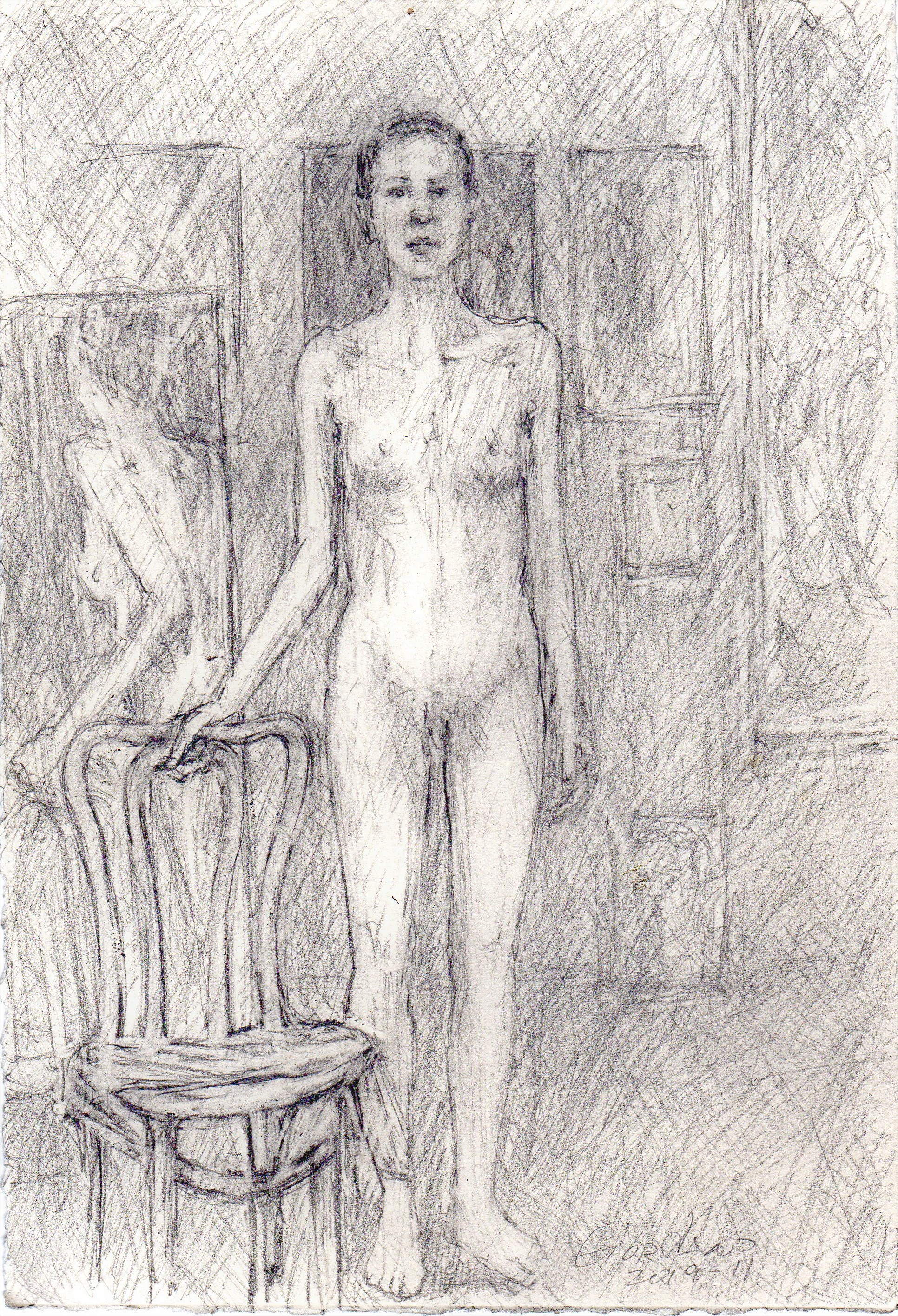 2019-11-STANDING WOMAN NUDE
