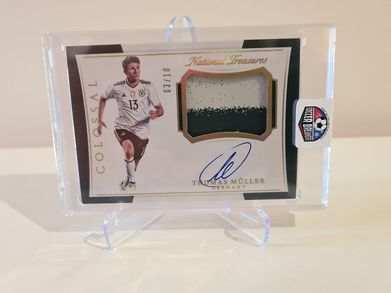 2018 National Treasures Colossal Auto Patch Thomas Muller Germany White Box 3/10