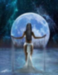 Egyptian Goddess drawing down the moon