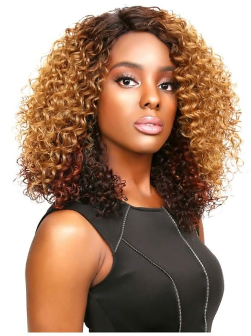 SENSATIONNEL SYNTHETIC LACE FRONT WIG EMPRESS EDGE NATURAL CURVED PART