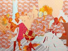 Untitled with Orange Palms (Before Ferdi