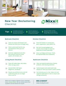 Nixxit printable decluttering checklist