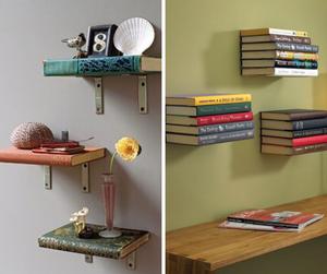 Repurposing old books into bookshelves