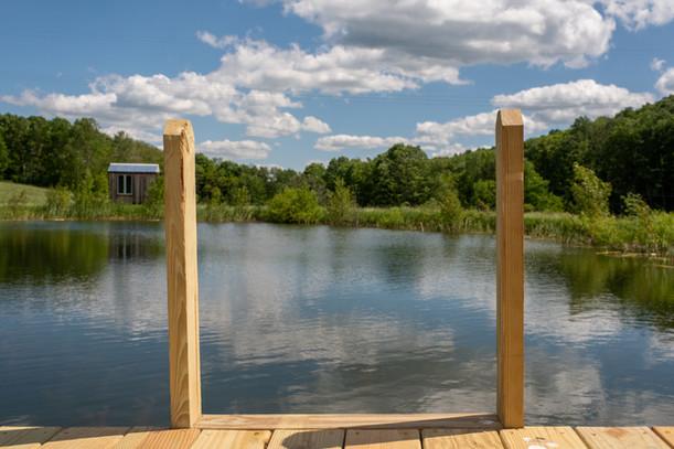 Ladder in Swimming Pond