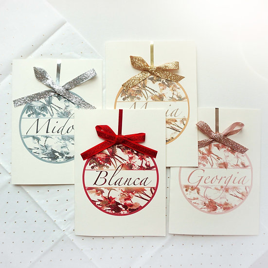 Floral Name Ornament (single card)