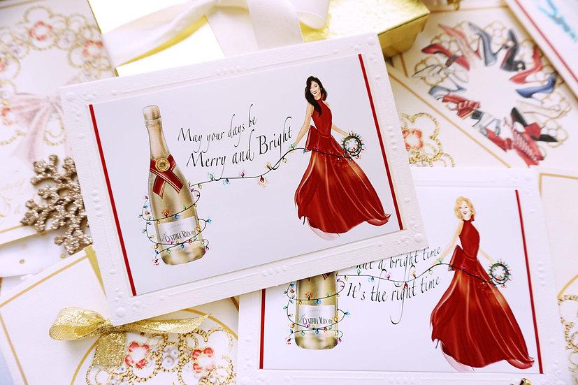 Champagne Chic Christmas Card & 9x12 Print