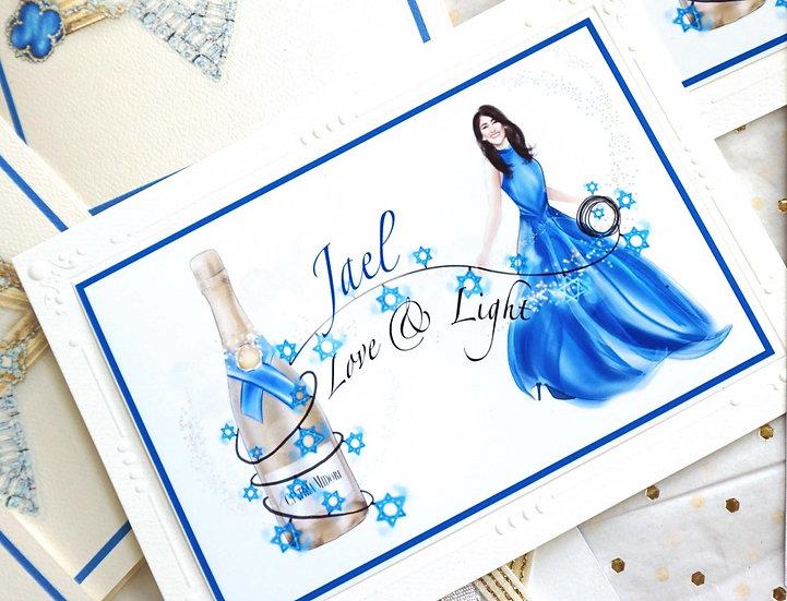 Champagne Chic Hanukkah (Card & Custom Print)