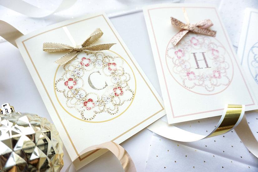 Luxury Initial Ornament (single card)