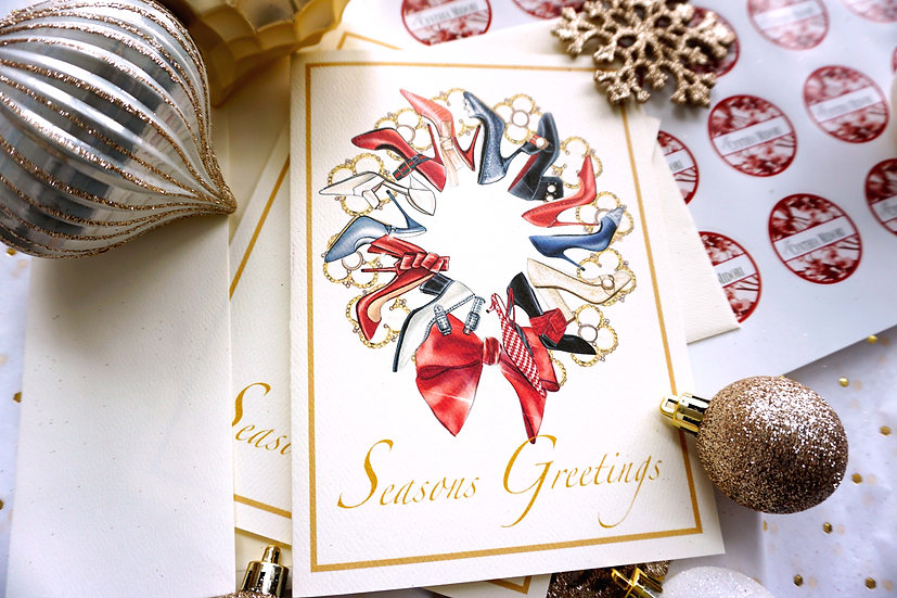 Shoe Wreath (single card)