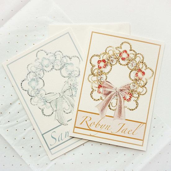 Custom Van Cleef Wreath (single card)