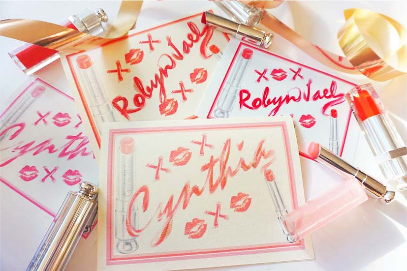 Lip-Stained Name (Pack Of 4,8)