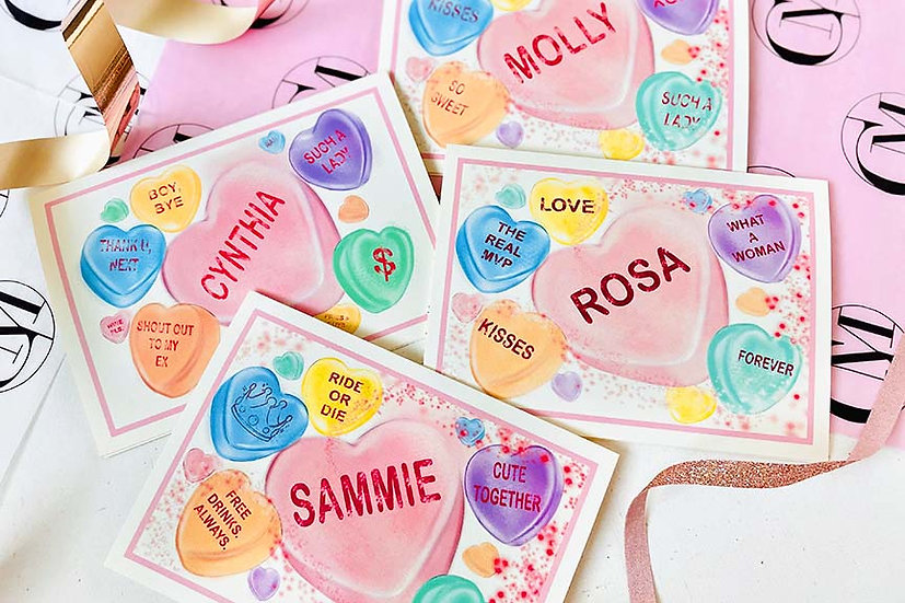 Custom Candy Heart Collection (Pack Of 4,8)