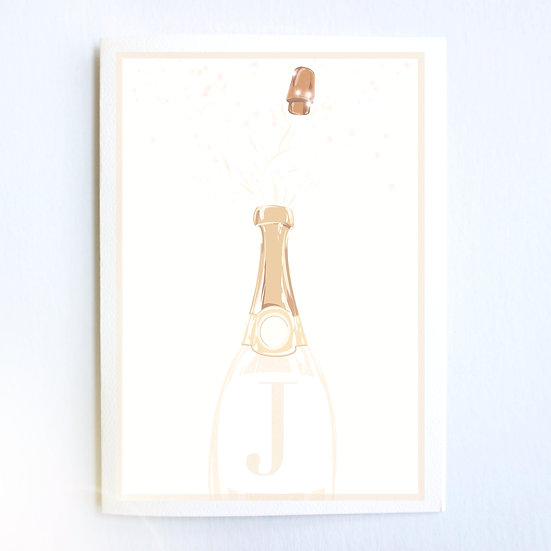 Champagne Initial (Single Card)