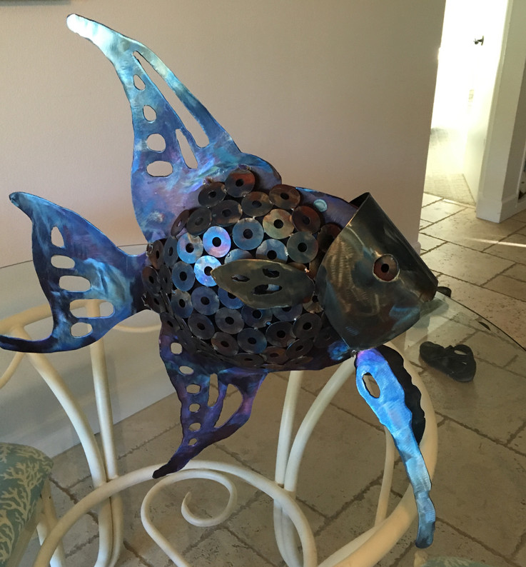 2ft high Whimisical Angel Fish
