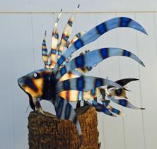 Steel Lionfish Sculpture