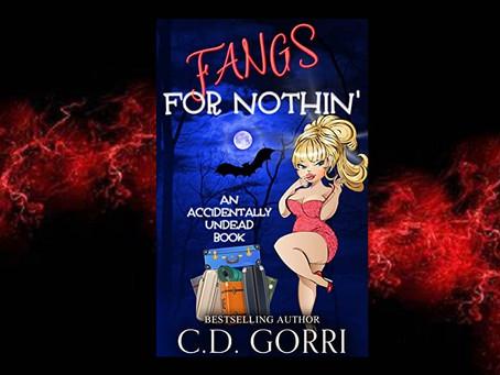Book Birthday – Fangs For Nothin' – C.D. Gorri