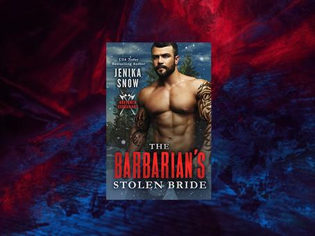 Book Birthday – The Barbarian's Stolen Bride – Jenika Snow