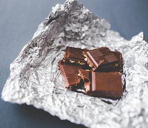 Binge eating on chocolate