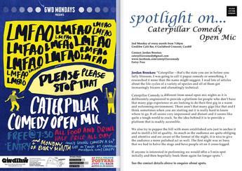 Spotlight on: CATERPILLAR OPEN MIC COMEDY, Cardiff