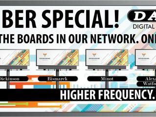 Higher Frequency Better Reach! September Special.