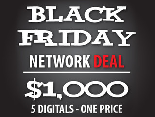 Black Friday Promotions? Not a problem, we can get you up Today!