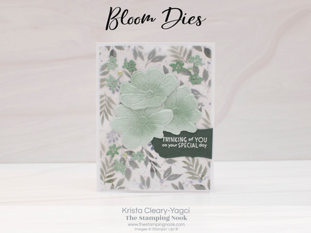 Stampin' Up! Art in Bloom Dies & Inspired Thoughts Special Day Card