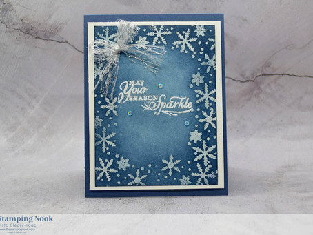 Stampin' Up! Snowflake Wishes Emboss Resist Christmas Card