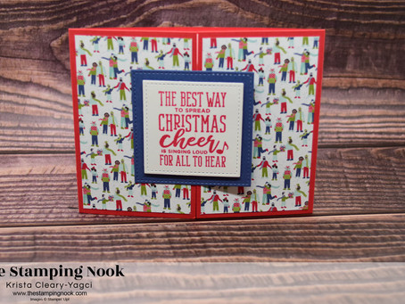 Stampin' Up! Christmas Means More Spreading Cheer Gate Fold Card