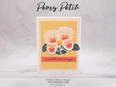 Stampin' Up! Pansy Patch Quick and Easy Card with Pansy Petals DSP