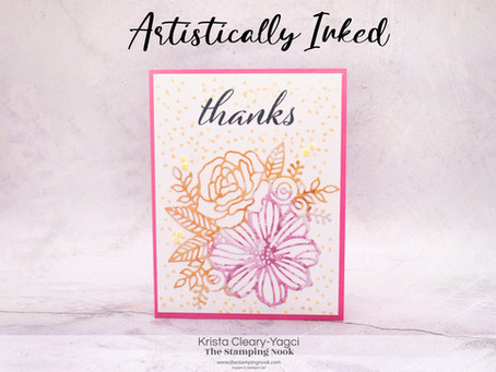 Stampin' Up! Artistically Inked Quick & Easy Card Made with Dies and DSP for the Use Your DSP Series