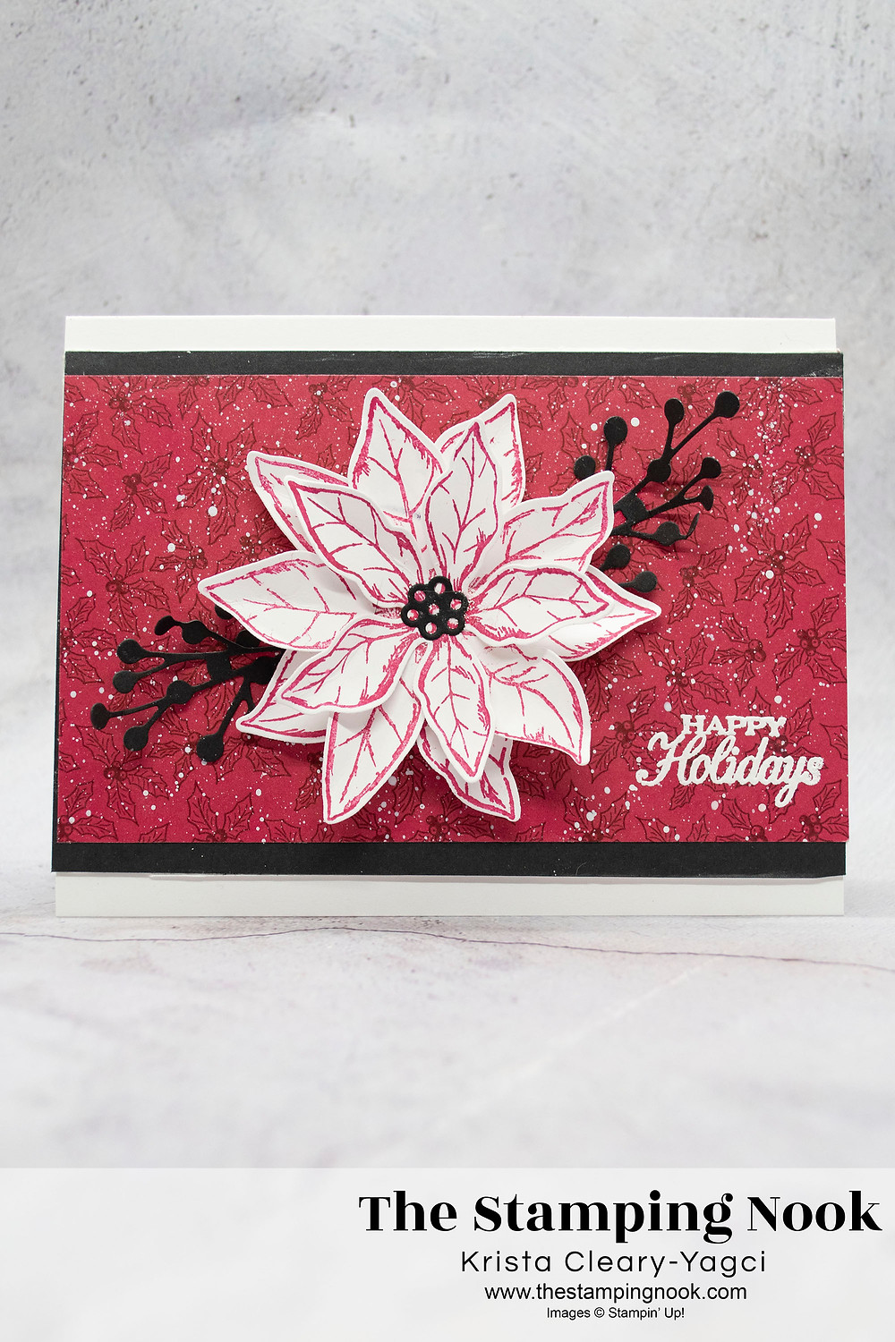 Stampin-Up-Poinsettia-Petals-Happy-Holidays-Christmas-Card-Krista-Cleary-Yagci-The-Stamping-Nook