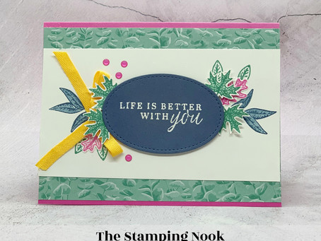 Stampin' Up! Beautiful Autumn Life is Better with You Friend Card