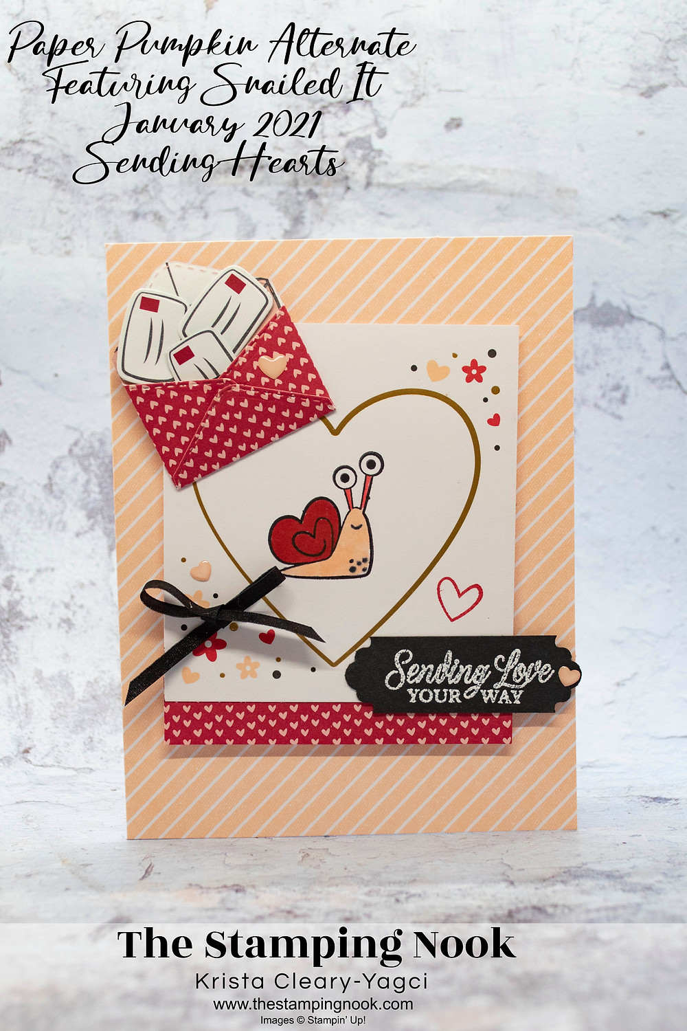 Stampin' Up! Paper Pumpkin January 2021 Sending Hearts Cards - Paper Pumpkin Alternate - The Stamping Nook Krista Cleary-Yagci