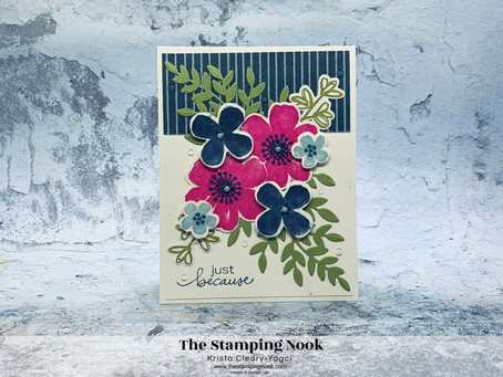 Stampin' Up! Pretty Perennials and Lovely You Just Because Card