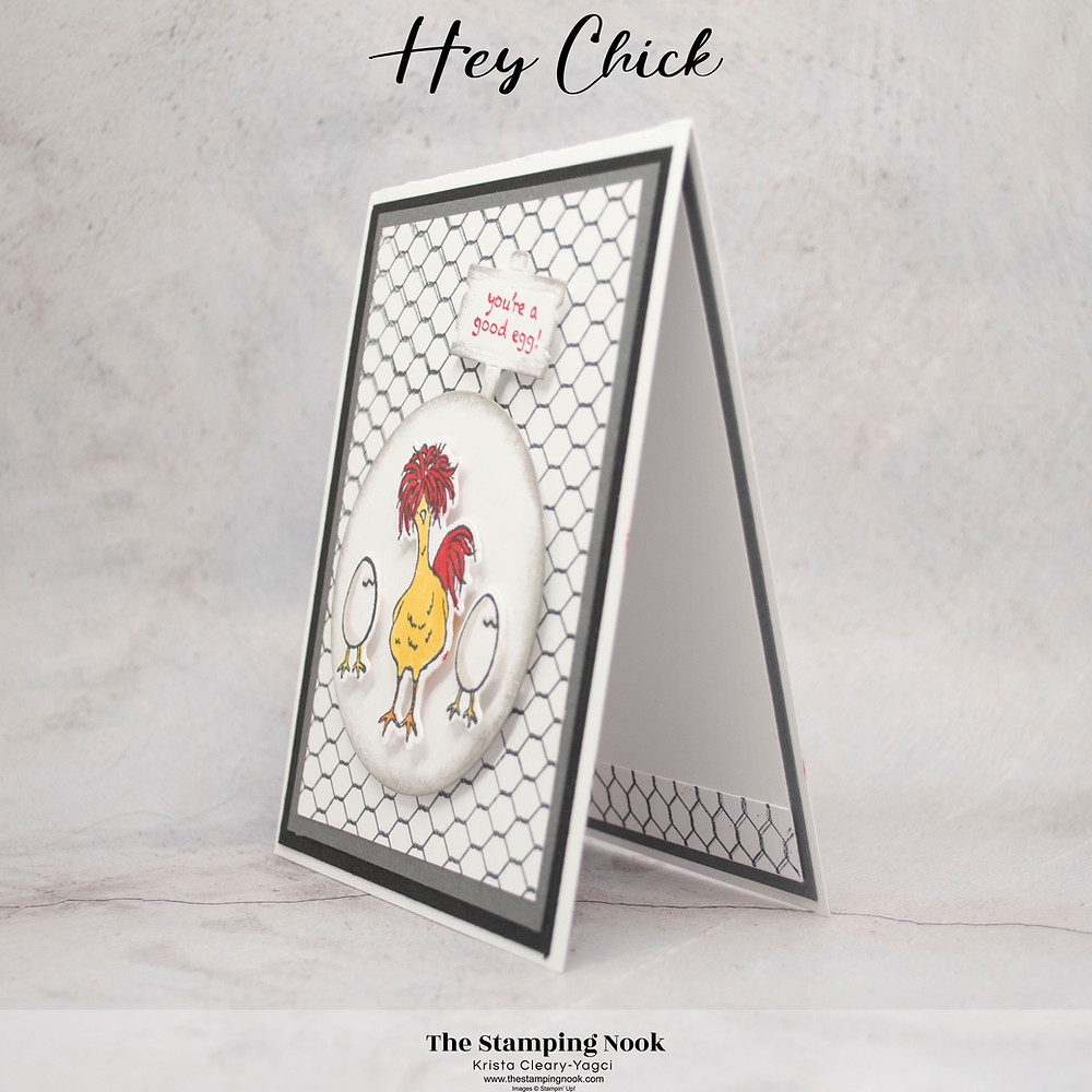 Stampin' Up! Hey Chick Card Ideas - Easter Card - Handmade Cards - The Stamping Nook -- Krista Yagci