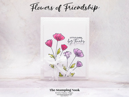Stampin' Up! Flowers of Friendship Thank You Card - Sneak Peek