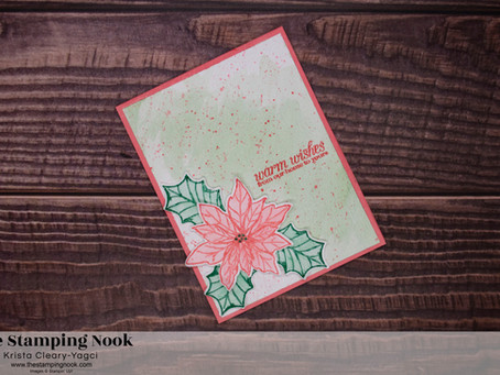 Stampin' Up! Poinsettia Petals Warm Wishes Christmas Card - Inkin' Krew Blog Hop