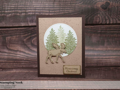 Stampin' Up! Merry Moose Easy Christmas Card