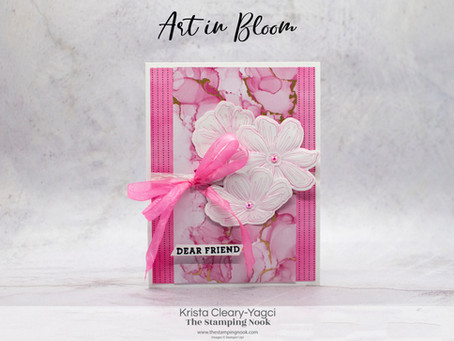 Stampin' Up! Art in Bloom Card with Expressions in Ink and Ink Blended DSP