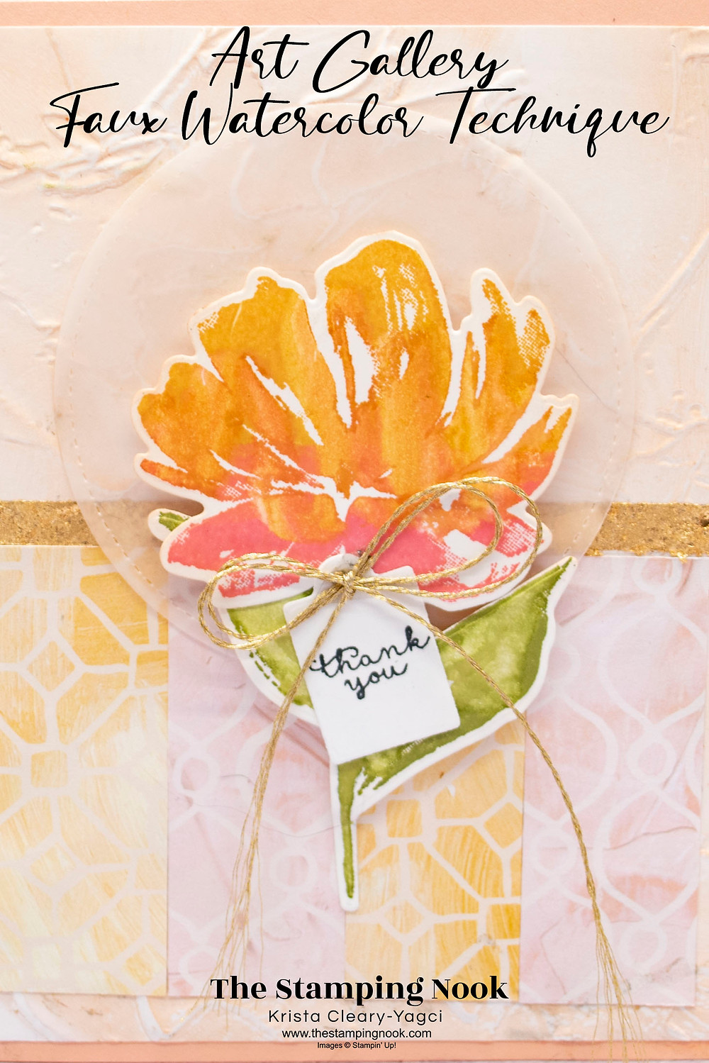 Stampin' Up! Card Ideas - Stampin Up Card Ideas – Art Gallery Stamp Set - Fine Art Floral - Art Gallery Ideas – Art Gallery Stampin Up - Stampin Up Mini Catalog - The Stamping Nook - Krista Cleary-Yagci
