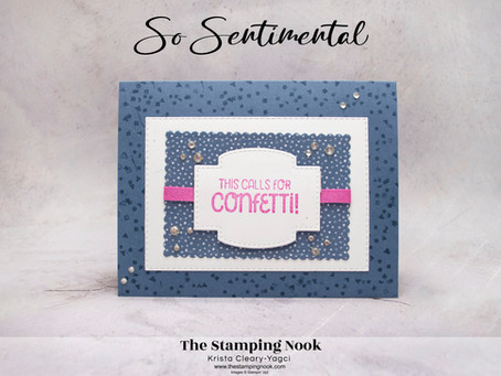 Stampin' Up! So Sentimental Stamp Set Featuring Flowers for Every Season DSP